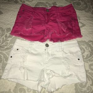 Pair Candies Distressed Stretch Shorts,Size-7